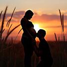Schwangerschaftfotos in Gefell - Sonnenuntergang