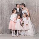 Fotoshooting Hochzeitspaar mit Kindern in Neustadt
