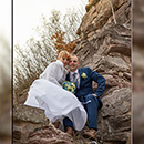 Brautpaar - Fotoshooting auf einer Burg in Bayern.