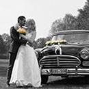 Bad Steben - Fotoshooting mit Brautpaar und Auto