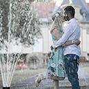 Engagementshooting in Coburg am Brunnen