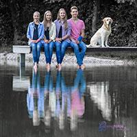 Geschwister-fotoshooting am Teich im Töpen/Bayern, Oberfranken