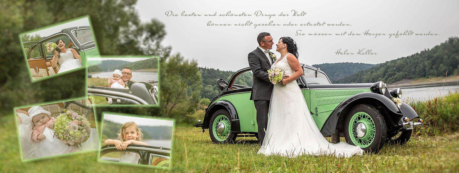 Panorama Fotobuch zur Hochzeit - Fotoshooting in Maktredwitz