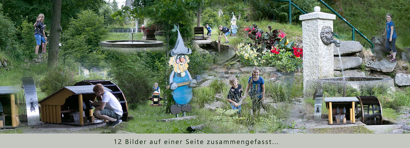 Panorama Fotobuch zum Geburstag - spielende Kinder